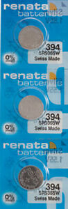 3 x Renata 394 Watch Batteries, SR936SW Battery | Shipped from Canada