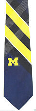 Michigan Wolverines Grid Mens Necktie University College Alumni Gift Tie New