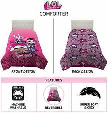 Brand New LOL Surprise Twin/Full Reversible Comforter Children's Bedding