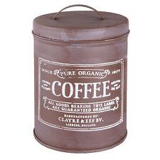 Clayre&Eef dose Inventaire café métal brun crème déco Shabby maison de campagne