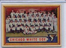 1957 Topps Baseball Card Chicago White Sox Team Card  Near Mint # 329