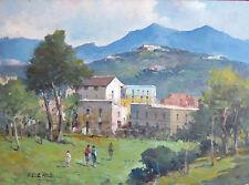 """Fontana02 - """"Borgo di campagna"""".Olio su tavola  del pittore Fortunato Fontana"""