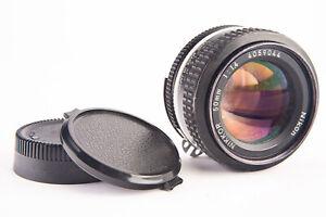 Nikon Nikkor 50mm f/1.4 Ai Standard prime Fast Lens with Both Caps F Mount V12