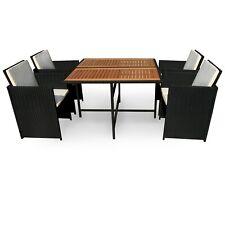Gartengarnitur Gartenmöbelset Gartenset Sitzgruppe Set 5teilig Holz + Polyrattan