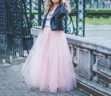 "7 Layers 39"" Maxi Long Women Tulle Skirts Celebrity Tutu Skirt Ball Gown Skirts"