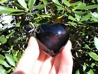 Black Sheen Obsidian Heart-Prosperity Protective-Energy! Scrying/Gazing GREAT $$