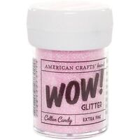 American Crafts Wow! Glitter - Cotton Candy - Extra Fine 30ml - for DIY Thickers