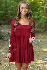 Abito ricamato maglia pizzo scollo aperto Heart on My Sleeve Mini T-shirt Dress