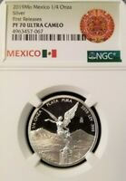 2019 MEXICO SILVER LIBERTAD 1/4 ONZA NGC PF 70 ULTRA CAMEO PERFECTION 1/4OZ !