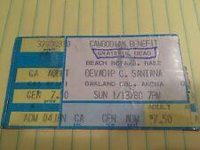 grateful dead beach boys joan baez devadip c. santana jan 13 1980 ticket