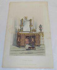 1828 Antique COLOR Furniture Print///TOILET TABLE