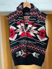 POLO Ralph Lauren Hand Knit Wool Sweater Vest Vintage Ski SZ Medium