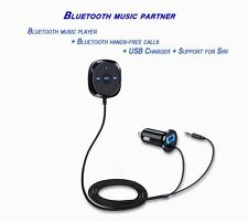 Bluetooth  Hand free Stereo Music Receiver Player USB Charger Car Kit For Phones
