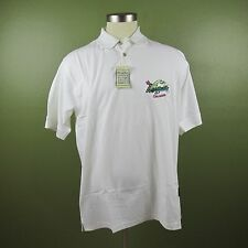 Jimmy Buffett's Margaritaville Men's XL White Polo Short Sleeve Shirt NWT