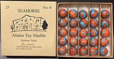 Alamo Toy Marble original box of Seahorse marbles 25 No. 0