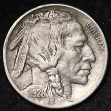 1928-S Buffalo Nickel CHOICE AU FREE SHIPPING E219 GFT