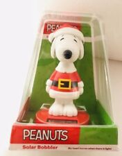 SANTA SNOOPY Solar Bobblehead Christmas Figure Peanuts Holiday Gift