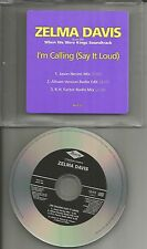 C & C Music Factory ZELMA DAVIS I'm Calling 2 MIXES & EDIT PROMO DJ CD single c&