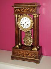 ANCIENNE PENDULE PORTIQUE (horloge) à colonnes – CHARLES X - XIXeme - fonctionne