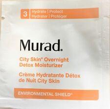 Lot of 20  Murad City Skin Overnight Detox Moisturizer - 1.5ml each New Sealed