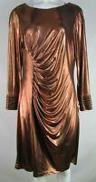 Calvin Klein Women's Copper Ripple Dress With Rhinestones