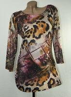 Lagenlook Blumen Longshirt Tunika Shirt Bluse Oberteil T-Shirt Classic GR 36-38