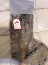 Pottery Barn Kids Faux Fur Chrismas Ombre Stocking NWT No Mono Grey