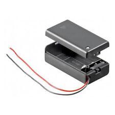 Batteriehalter für 9 V-Block Akkuhalter Batteriefach mit Schalter Ein Aus