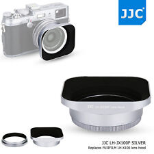 JJC Metal Square Lens Hood 49mm Adapter Ring for Fujifilm X100F X100T X70 Silver