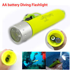 Underwater Waterproof Q5 Diving Flashlight AA LED Torch Flash Light Lamp Fishing