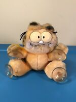 "DAKIN Vintage Garfield 1978, 1981 Suction Cup Window Cling 6"" Attack Cat Button"