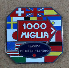 1000 Miglia shield metal badge plate emblem