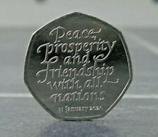 BREXIT 50p Coin January 2020 Peace, Prosperity & Friendship all Nations..