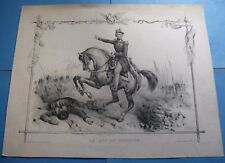 """BELLE LITHOGRAPHIE """"LE DUC DE NEMOURS"""" 1840 FAMILLE ORLEANS Signé VICTOR ADAM"""