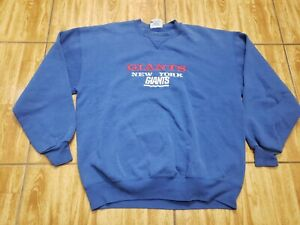 VINTAGE New York Giants Sweater Adult Extra Large Blue Football Mens 90s