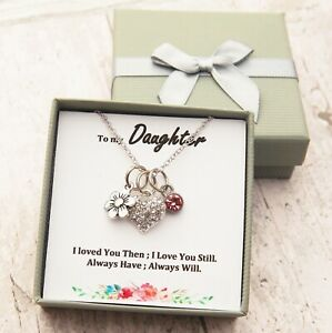 To My Sister Daughter  Mum Gift Necklace for Happy birthday / XMAS / Mothers day