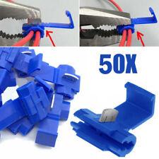 50x Blue Scotch Lock Wire Connectors Quick Splice Terminals Crimp Electrical Set