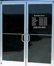 Business Store Hours lettering Sign Vinyl Decal Sticker 14x 14 Window Door Glass