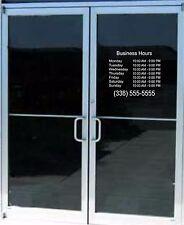 Business Store Hours Lettering Sign Vinyl Decal Sticker 14x 14 Window Door Glass