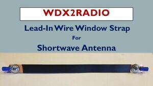 Shortwave SWL Antenna Wire Thru Window Channel Lead in Strap  No hole drilling