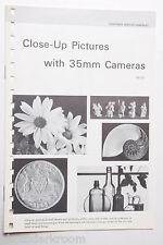Kodak 1969 AB-10 Close-Up With 35mm Cameras Info Guide - English USED B20