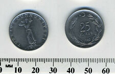 Turkey 1960 - 25 Kurus Stainless Steel Coin - Standing figure facing