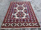 4'6 x 7'7 Handmade vintage afghan tribal qalaino kilim rug, Best area kilim rug