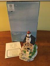 Harbour Lights, Great Captain Island, Connecticut Hl#114 Lighthouse Coa, ltd ed.