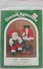 "Dream Spinners Pattern #126 Nicholas Pattern-30"" Santa & 61/2"" Teddy ~ Uncut"