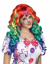 Rainbow Curlz Curls Clown Adult Wig Costume Accessory NEW One Size