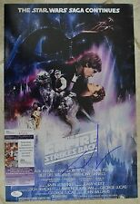 George Lucas Signed 12x18 Poster JSA COA #R76434 Star Wars Empire Strikes Back
