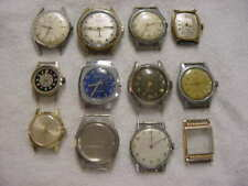 Lot of 10 + Vintage antique WWII World War II MILITARY + ART DECO mens watch s