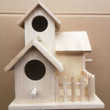 Jw_ Hn- Nordic Wooden Bird Breeding House Cage Box Home Garden Balcony Pendant