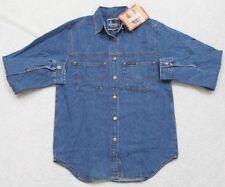 cc1c161d8b578a New Denim Jeans Shirt Long Sleeve Small Harley Davidson Blue Women s Solid  Top